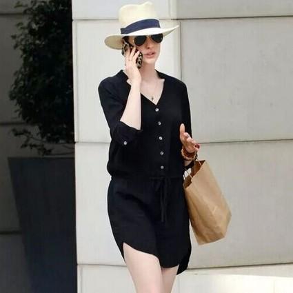 偷懒也要穿得美,一条衬衫裙帮你全搞定!