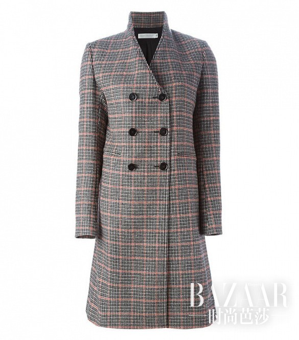 Victoria Beckham Double Breasted Checked Coat (31)