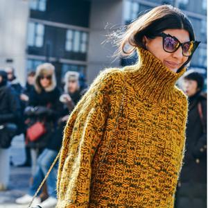 天冷可别死撑了,高领衫让你时髦保暖两不误!