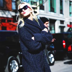 针织开衫够大够厚才时髦,穿上了整个冬季都不想脱下来!