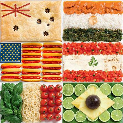"""厨房里的创意美食 这些""""国旗""""超可爱"""