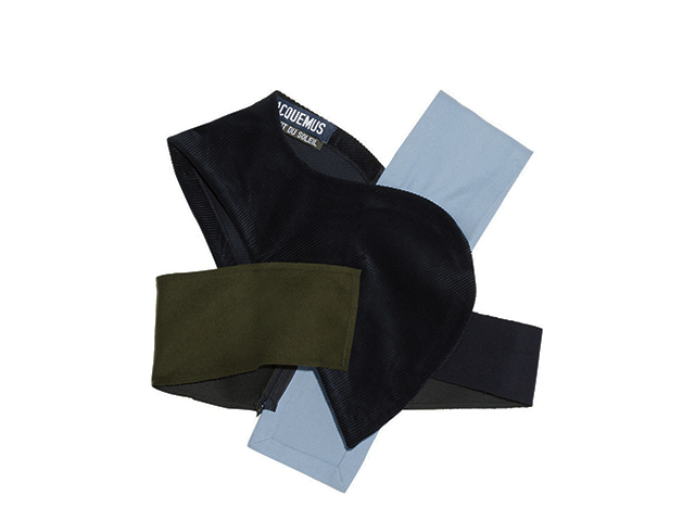 拼缝短款棉质混纺灯芯绒羊毛毡上衣 Jacquemus 1(约人民币3,572元)