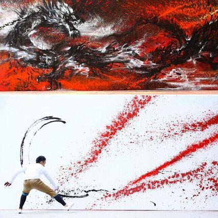 Hua Tunan ,用颜料泼洒出的写意诗篇