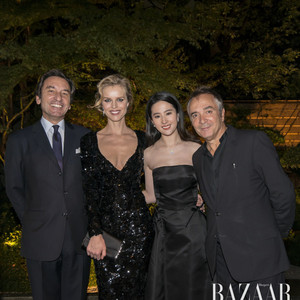刘亦菲于东京法国驻日大使馆赴Dior迪奥晚宴