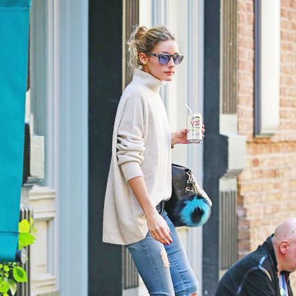 Olivia Palermo 街拍女王都在穿毛衣!