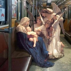 古典绘画里的人物步入现实