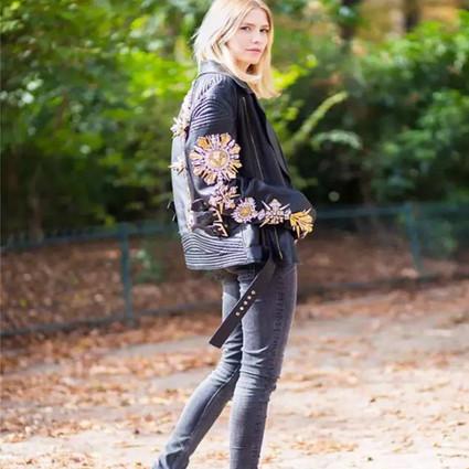 这个秋天有了皮夹克,我真是怎么穿都好看!