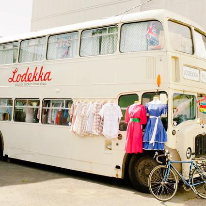 平常坐的巴士,也能变成小店或公寓?