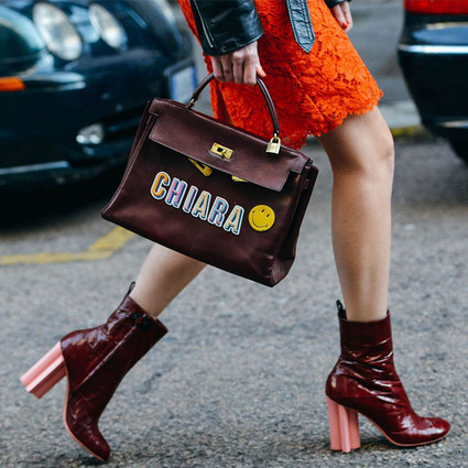 40个摩登粗跟靴潮人搭配,教你稳稳地走在时髦路上!