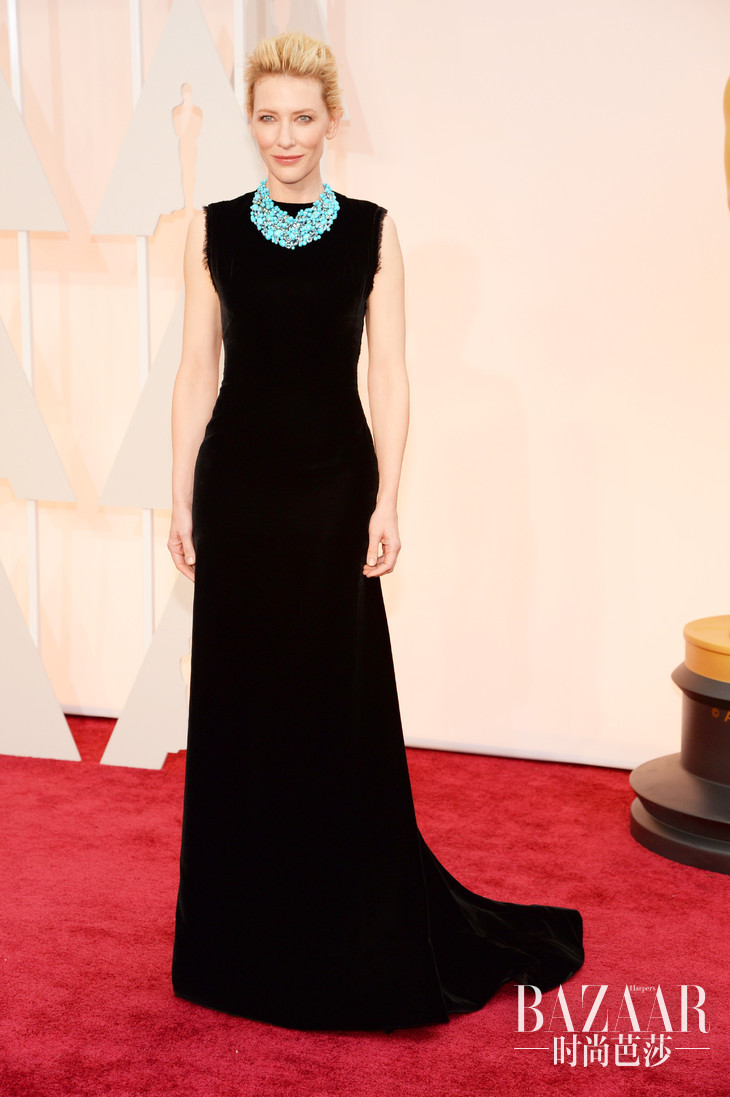cate-blanchett-oscars-red-carpet-2015 副本