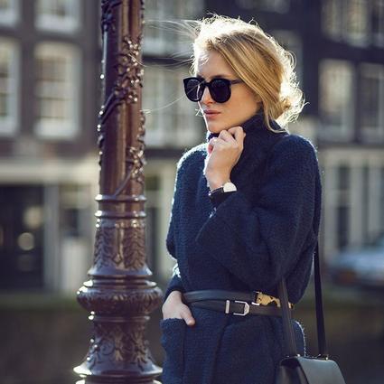 冬天也要拒绝臃肿,一件睡袍式大衣让你温暖又有好身材!