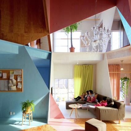 当几何空间融入房间,整个世界都阳光了