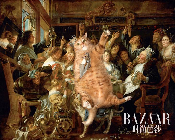famous-paintings-with-zarathustra-fat-cat-art-svetlana-petrova1