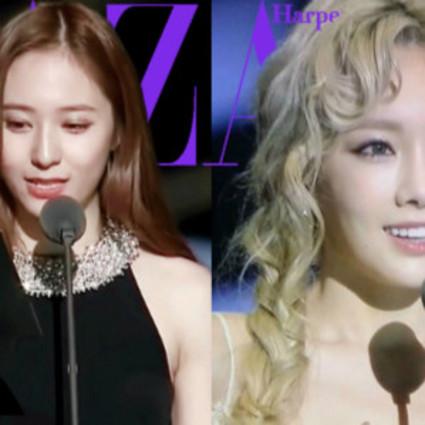 亚洲音乐大奖郑秀晶的小清新PK泰妍的公主特效,你对谁的烟熏妆更来电?