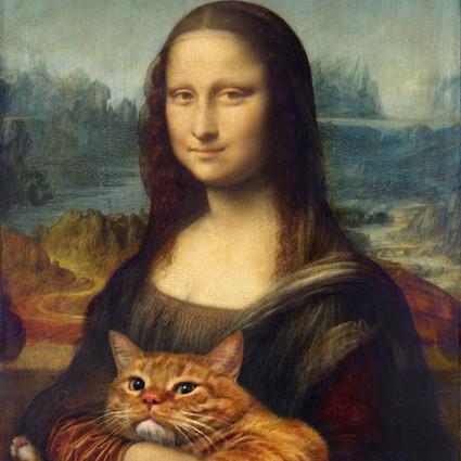 他把自家的肥猫放到名画当中去了
