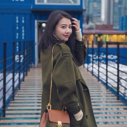 高圆圆、刘雯都爱的军绿色外套,想要美美的过冬你怎么能没有!