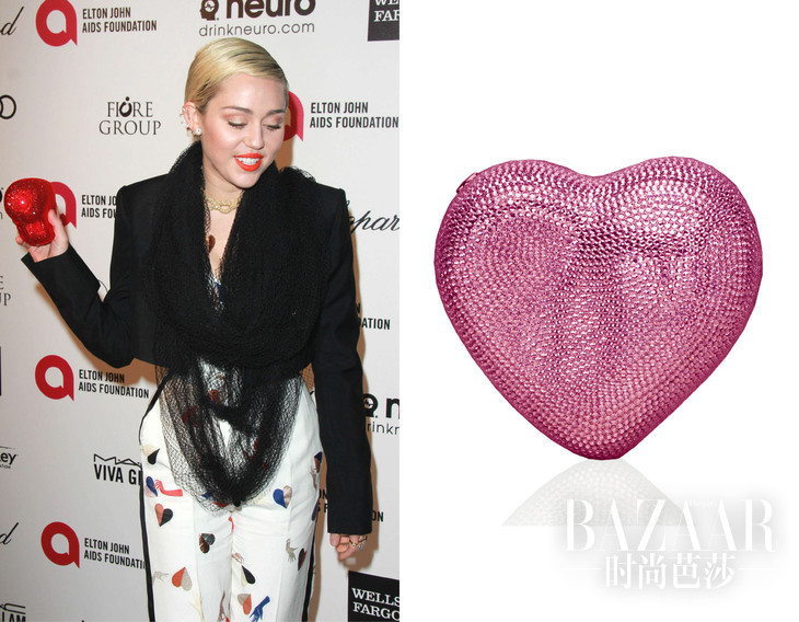 Heart Crystal Clutch Bag, SilverLight Rose Judith Leiber Couture CNY 19,741 neimanmarcus.com (2)