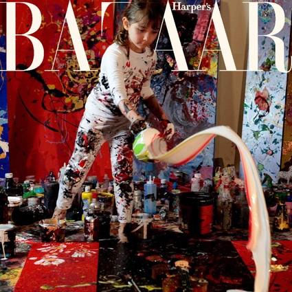 9个月拿画笔,2岁办画展,这个小萝莉没准就是下一个毕加索!