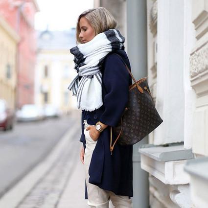 冬天要时髦才是正经事,一条围巾解救你整季的沉闷搭配!