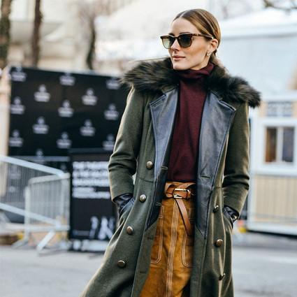 有了双排扣外套,这个冬天穿再多也不显胖!