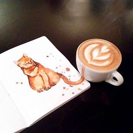咖啡的另类创意,让猫咪来作伴