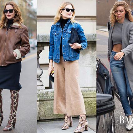 时尚icon们都在穿,今年冬天必须要入一双动物皮纹靴!