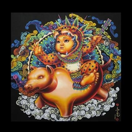 内敛和奔放,墨西哥画家的日本画