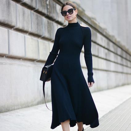 冬天不想穿成熊出门?一件毛衣裙让你温暖又时髦!