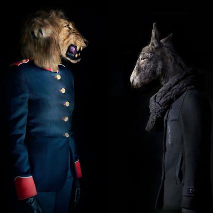 真实版疯狂动物城,兽面人身,带来诡异视觉体验