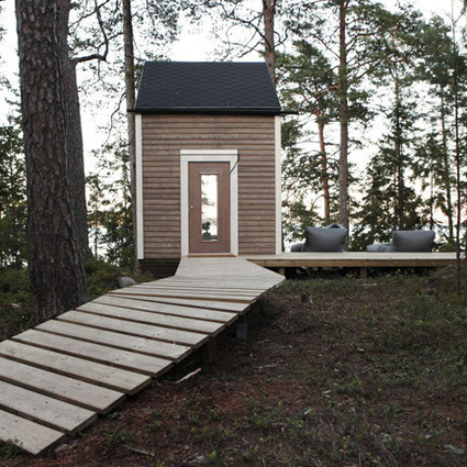 芬兰森林中的温馨小屋,舒适别致又环保