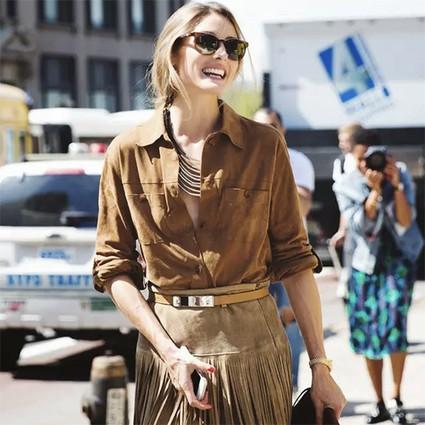 春风那个吹,我穿衬衫+半裙就能美美地转圈圈!