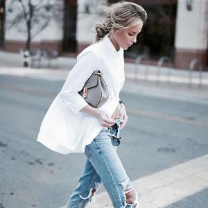 春夏有种美好叫白衬衫,今天我只想穿它!