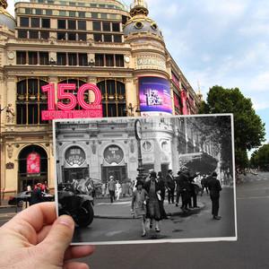 穿越时空的照片拼贴,古迹地标旧时更繁华