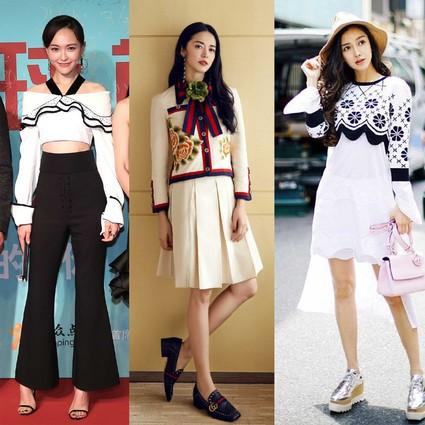 唐嫣美腿秀出新高度,Angelababy穿着Dior跟樱花比美!