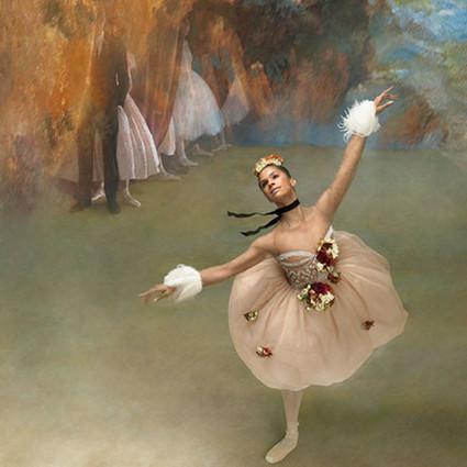 美版芭莎拍芭蕾舞女,重现德加绘画作品