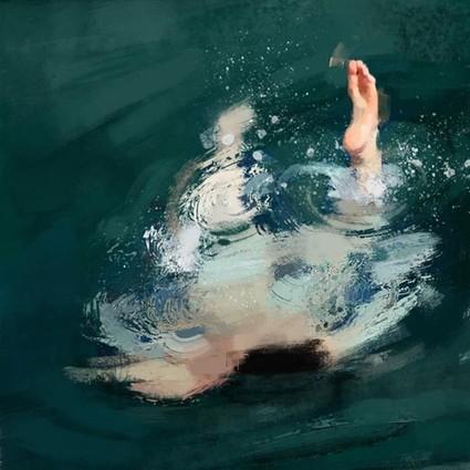 用油畫描繪青春無敵的夏日人體