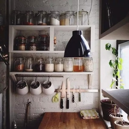 厨房收纳小贴士,让这个最居家的地方看起来井井有条