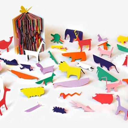 Zoo in my hand动物剪纸艺术书籍