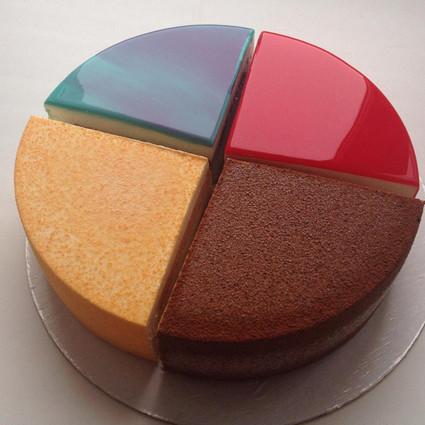 这可能是你见过的最美的蛋糕,因为她是镜面儿的!