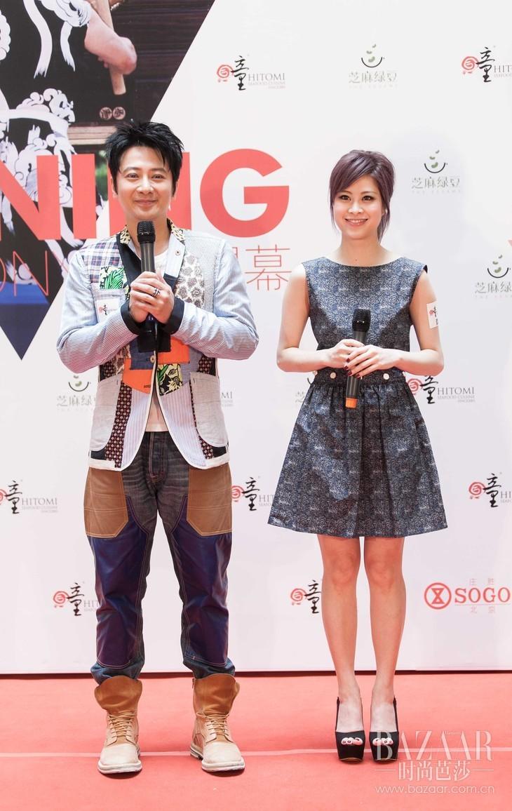 中国香港艺人孙耀威先生及当红歌手麦家瑜小姐