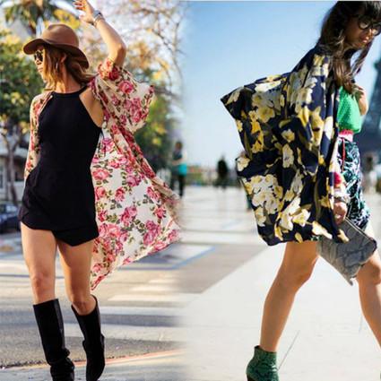 夏日巧穿和服衫,快看街拍摄影师的镜头!