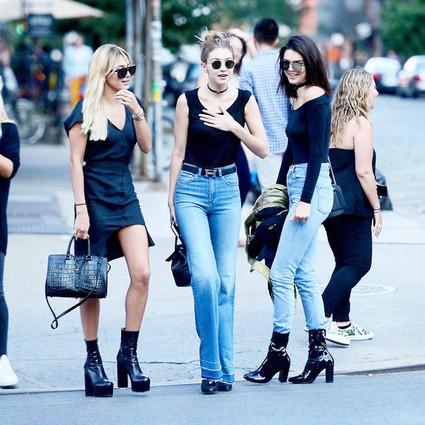 实穿秘笈——Kendall和她的一百条蓝色牛仔裤!