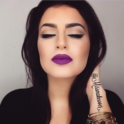 『今日妆容』魔女的紫色之吻❤(附魔性步骤)