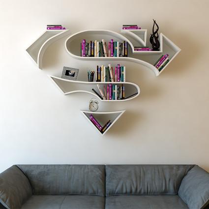 你也许需要一个超级英雄书架,装点你的家