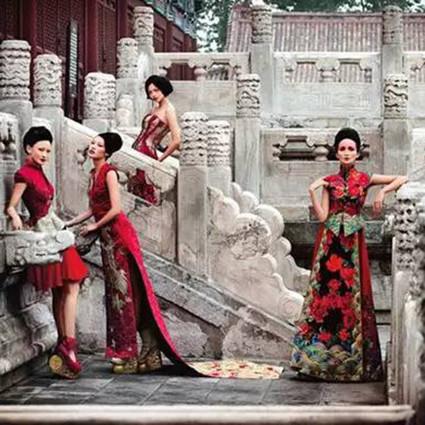 她,为中国新娘裁剪出东方韵味