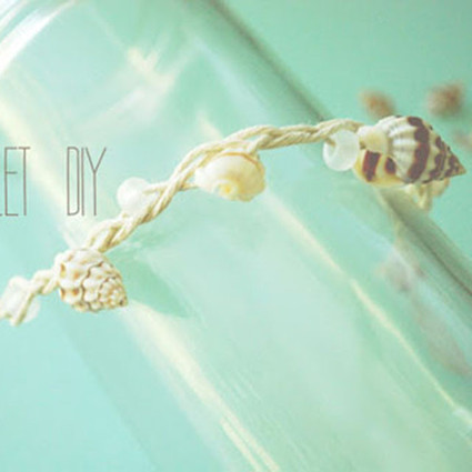 DIY浪漫的贝壳脚链