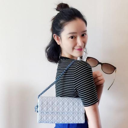 郭晓婷买了少女心爆棚的Dior包包和Tiffany墨镜!