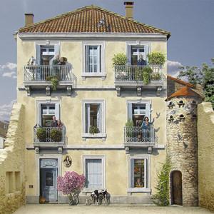 法国的艺术家把房子都变成了立体画!