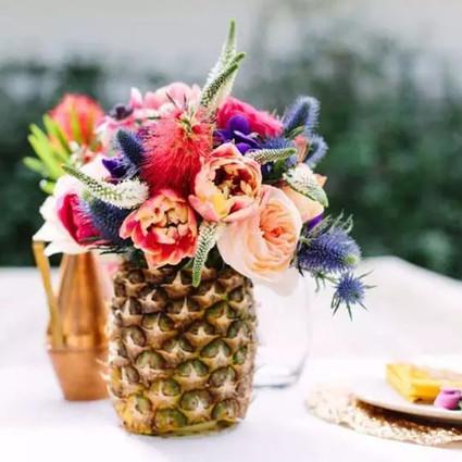 用吃不完的蔬果做绝美插花