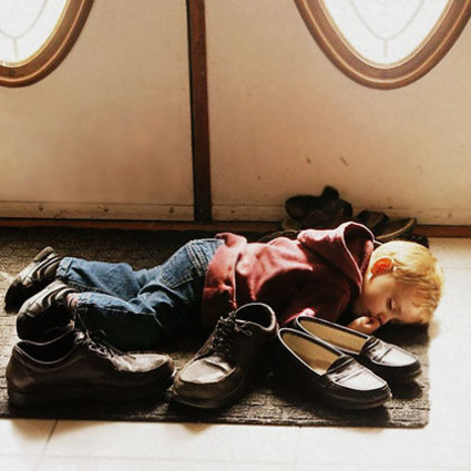 有多久没睡过一个像婴儿般安稳的觉了,其实baby在哪儿都能睡